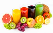 Juices in several flavours