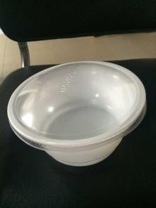 white PP round fast food container round soup bowl