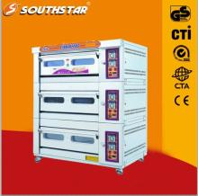 Three Deck Commercial Gas Pizza Oven