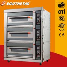 Luxury gas oven with 9 trays