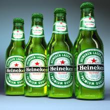 Heinekens Lager Beer Cans and Bottles