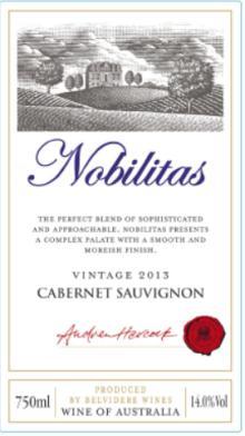 Nobilitas 2013 Cabernet Sauvignon