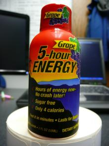 5 HOUR ENERGY DRINKS