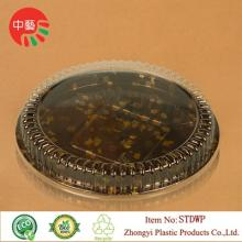 Clear lid  plastic  disposable sushi tray 12' large  size