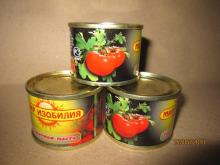 Fresh vegetables 70g*100tins canned tomato paste concentrated 28-30%