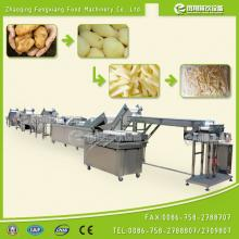 French Fry peeling cutting weighing and packing production line