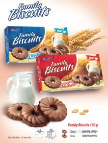 Coated Family biscuits 190g