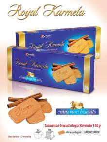 Cinnamon biscuits Royal Karmela 135g