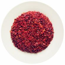 Dried red bell pepper granules