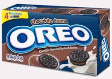 Oreo Chocolate Milk Sandwich Cookies Box 264gr