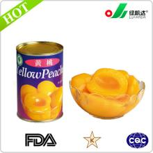 Wholesale canned yellow peach halves