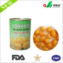 Manufacture of canned loquats in l.s