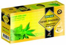 Turkish Peppermint and Lemon Grass Tea 20 Tea bags Natural Herbal Health Teabags GMP Certified