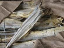 dried and salted atlantic pollock fish