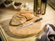 Round Bread Vegetable Thick Bamboo Cutting Platter  Wood  Chopping Board