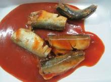 Delicious canned mackerel in tomato sauce
