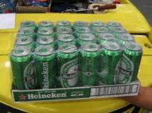 Dutch Heineken Beer cans and bottle