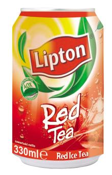 Original 330ML Lipton Ice Tea Red and Green