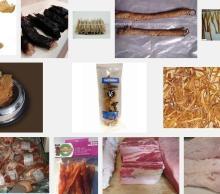 сушеные морепродукты, сушеный осьминог, кальмар сушеный, сушеные креветки, сушеные креветки, сушеные ушка, сушеные seaho