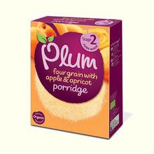 Plum Baby four grain with apple & apricot porridge 7mths+ 175g
