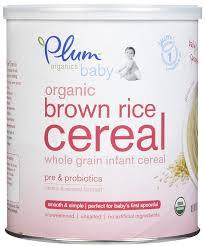 Plum Organic Brown Rice Baby Cereal