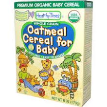 Healthy Times, Organic Oatmeal with Peaches and Banana Cereal for Baby, 6 oz (170 g)