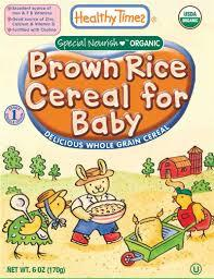 Healthy Times, Organic Brown Rice Cereal for Baby Wholesale