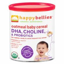 Happy Bellies Organic Super Cereals DHA, & Pre & Probiotics + Choline Organic Oatmeal Cereal