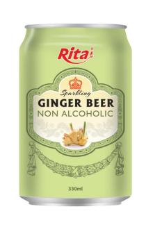 Ginger flavor non alcoholic Beer
