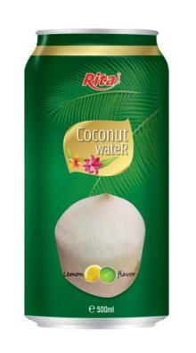 Coconut water with lemon flavor 500ml