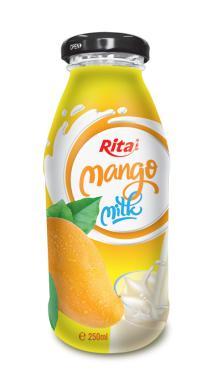 250ml Glass bottle Mango Milk