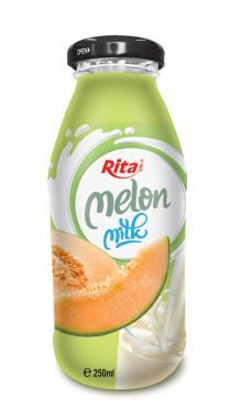 250ml Glass bottle Melon Milk