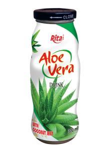 Aloe vera with Jelly 300 ml glass bottle