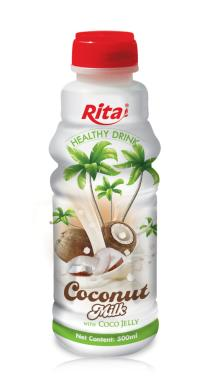 Pure coconut milk with jelly 500ml PP bottles