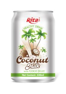 Coconut milk with Jelly 330 ml canned