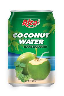 Coconut water with grape flavor 330ml canned