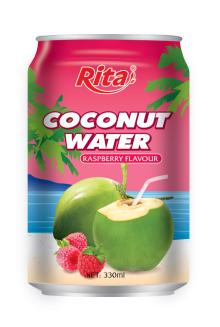 Coconut water with raspberry 330ml