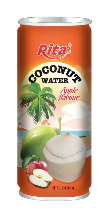 Coconut water with apple flavor 250ml