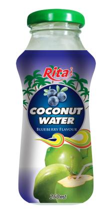 Coconut water with blueberry 250ml Glass bottle