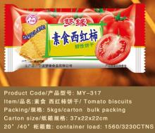 vegetarian food tomato flavor semi hard cracker biscuit