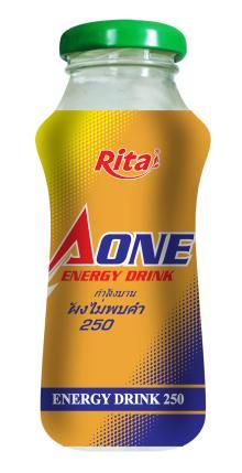 Glass bottle Aone Energy Drink