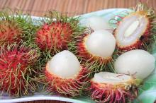 Frozen rambutan whole