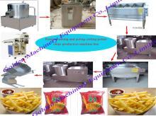 Potato Washing Peeling Cutter Slicer and Chips making Machine