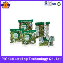 Clear Plastic Customized Printing Vegetable Packaging Bag