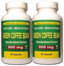 Wholesale Pack of 2 - Pure  Green   Coffee   Bean   Extract   Weight   Loss  Dieting Pills