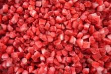 frozen/IQF strawberry diced