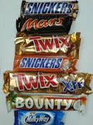 Kinder Chocolate, Snickers, Mars, Bounty Twix, Kitkat