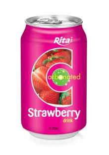 330ml Carbonated Strawberry Drink