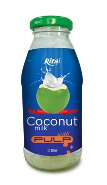 Coconut milk 250ml glass bottle
