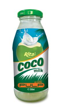 Coconut milk with pulp 250ml Glass bottle